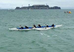 "My first race with the ""A"" team around Alcatraz Island"