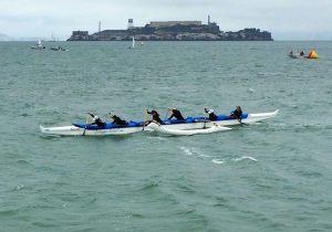 "My first race with the ""A"" team around Alcatraz Island"